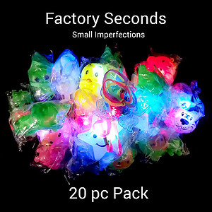 Mixed Pack of Flashing Necklaces & Rings Factory Seconds (20pc Pack)