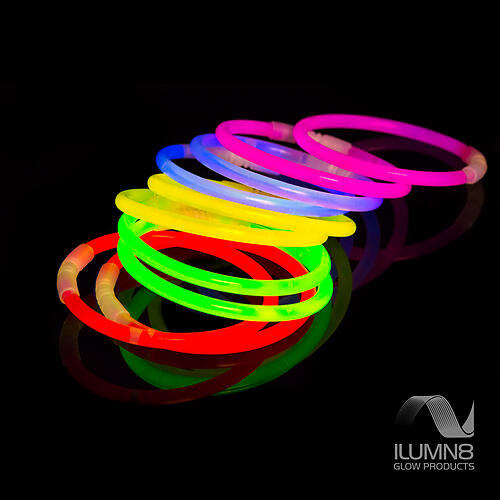 GLOW BRACELETS-8INCH-300PCS/PACK-MIXED + GLOW-BALL-CONNECTOR-SETS-15PCS